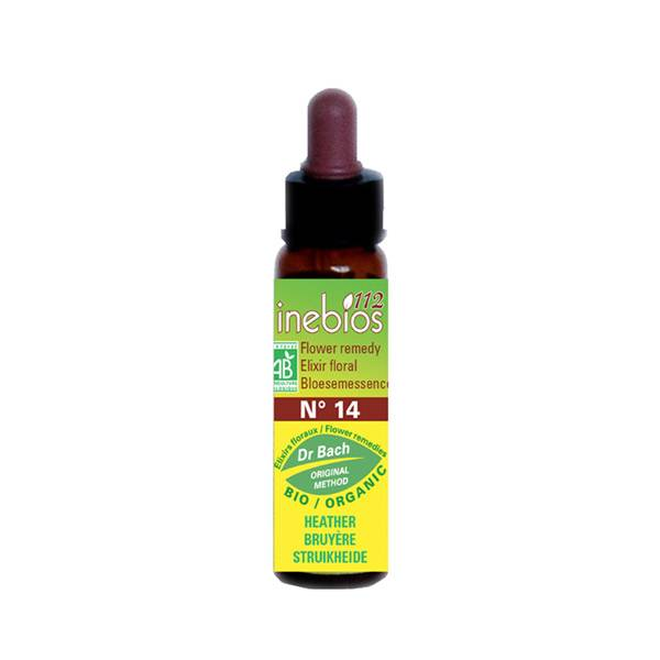 Inebios Fleur de Bach n°14 Heather - Bruyere Bio 10ml
