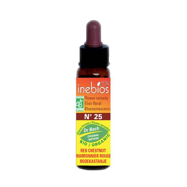 Inebios Fleur de Bach n°25 Red Chestnut - Marronnier Rouge Bio 10ml