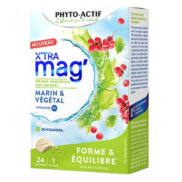Phyto-Actif Phytoactif X'Tra Mag' Forme & Equilibre 24 Comprimés
