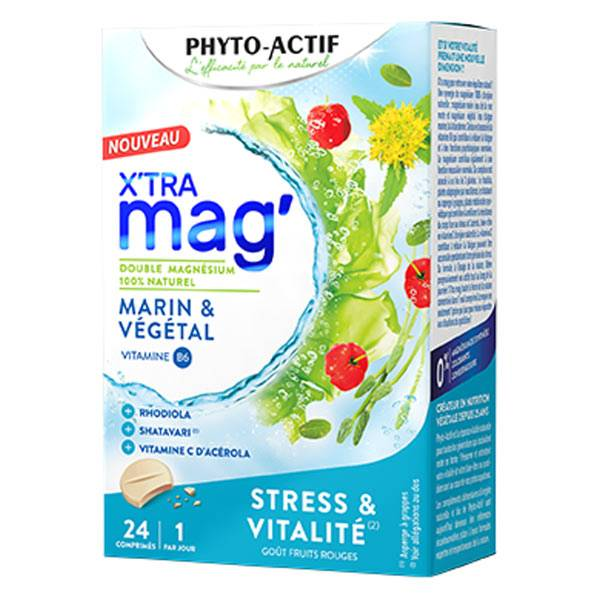 Phyto-Actif Phytoactif X'Tra Mag' Stress & Vitalité 24 Comprimés