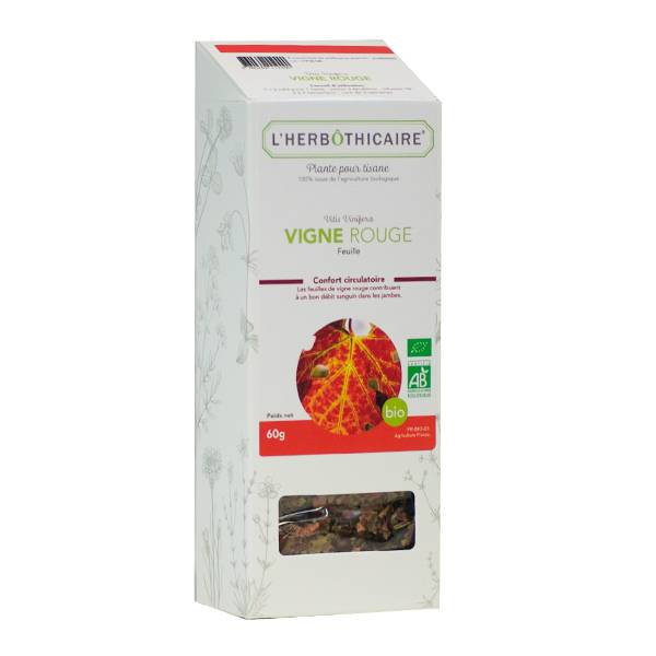 L' Herbothicaire L'Herbôthicaire Tisane Vigne Rouge Bio 60g