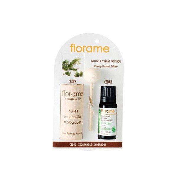 Florame Aromathérapie Diffuseur d'Arôme + Huile Essentielle Cèdre Bio 10ml