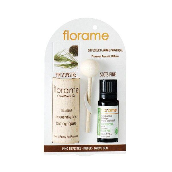 Florame Aromathérapie Diffuseur d'Arôme + Huile Essentielle Pin Sylvestre Bio 10ml