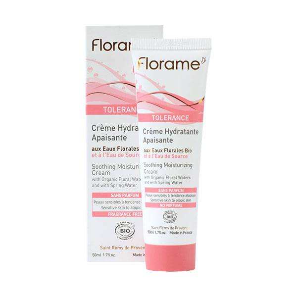Florame Tolerance Crème Hydratante Apaisante Bio 50ml