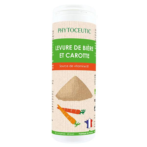 Phytoceutic Levure de Bière et Carotte Bio 180 comprimés
