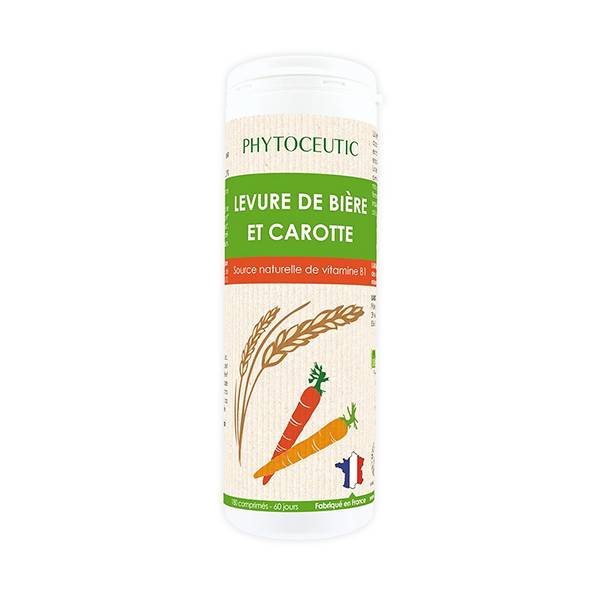 Phytoceutic Bio Levure de Bière et Carotte 180 comprimés