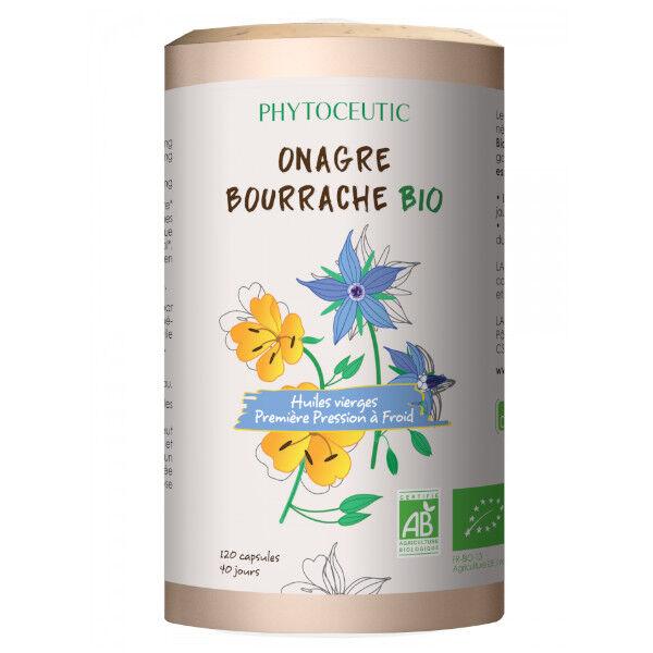 Phytoceutic Huile d'Onagre et Bourrache Bio 120 capsules