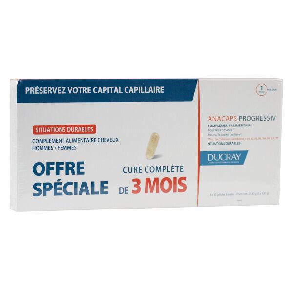 Ducray Anacaps Progressiv 2 x 30 Gélules + 30 Gélules Offertes