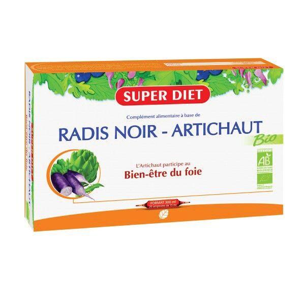 Super Diet Radis Noir Artichaut Bio 20 ampoules de 15ml