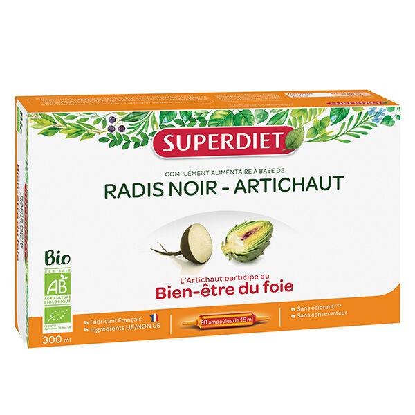 Superdiet Radis Noir Artichaut Bio 20 ampoules
