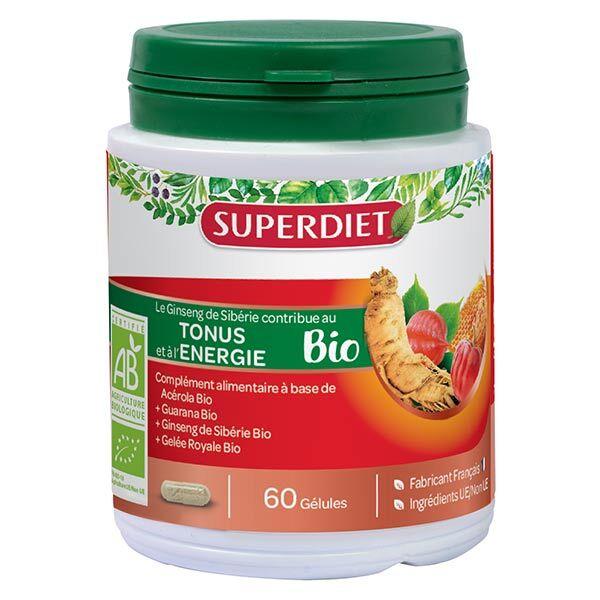 Superdiet Ginseng Gelée Royale Guarana Bio 60 gélules