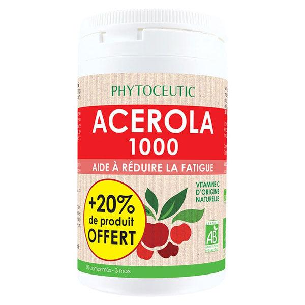 Phytoceutic Acérola 1000mg Bio 90 comprimés