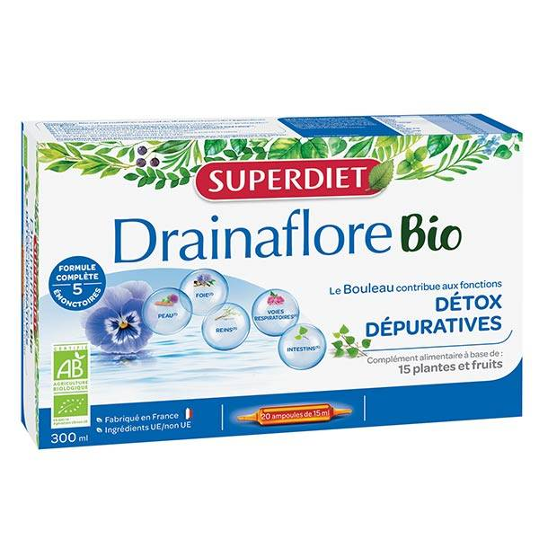 SuperDiet Super Diet Drainaflore Bio 20 ampoules