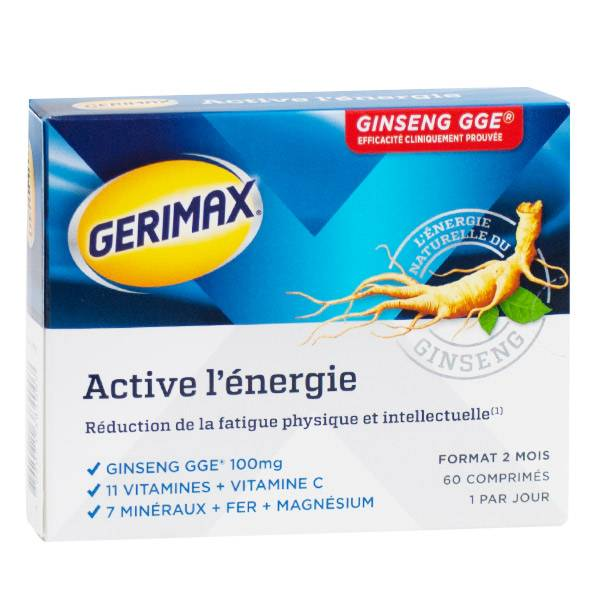 Gerimax Active l'Energie Ginseng GGE 60 comprimés