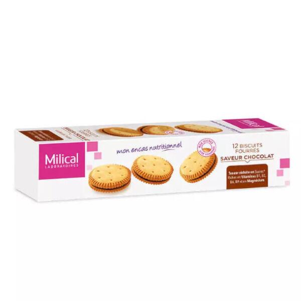 Milical Biscuits Fourrés Saveur Chocolat boite de 12