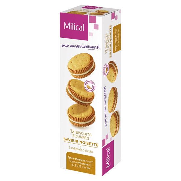 Milical Biscuits Fourrés Saveur Noisette 12 unités