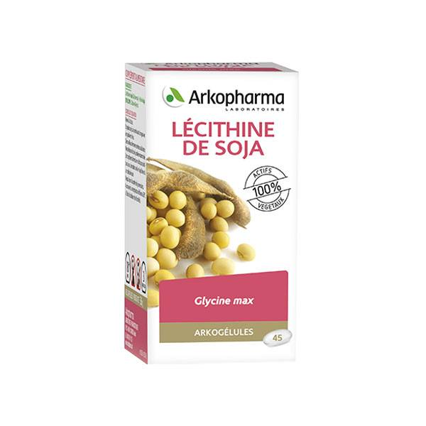 Arkopharma Arkogélules Lécithine de Soja 45 gélules
