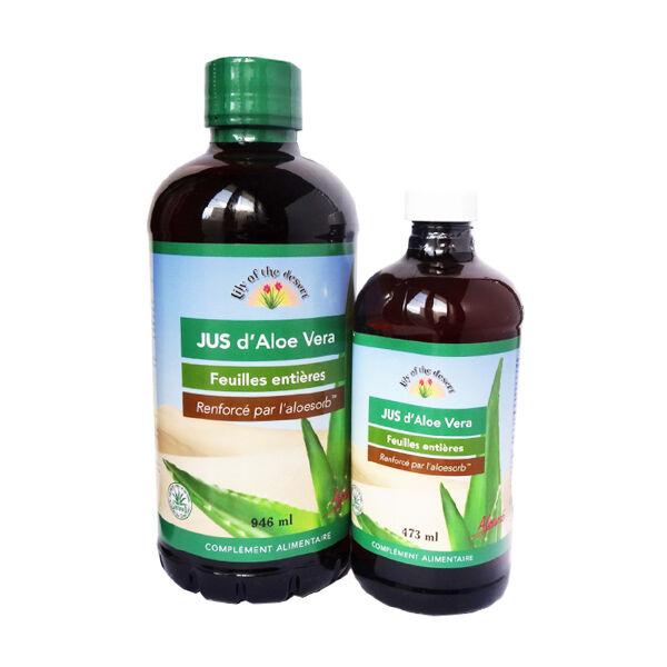 Lily of the Desert Jus d'Aloe Vera 946ml + Jus 473ml Offert