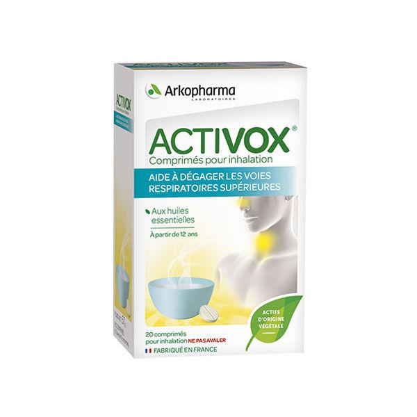 Arkopharma Activox Nez & Gorge Inhalation Huile Essentielle 20 comprimés
