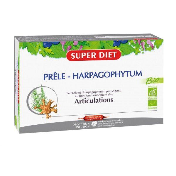 SuperDiet Super Diet Prêle - Harpagophytum Bio 20 ampoules