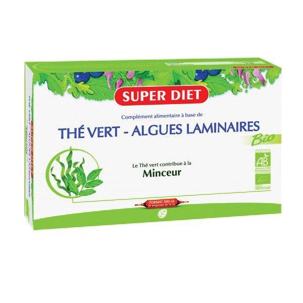 Super Diet The Vert Algues Laminaires Bio 20 ampoules