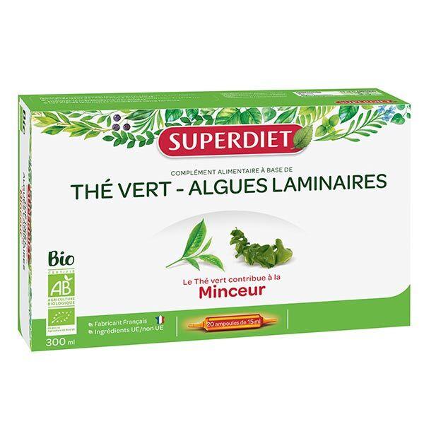 SuperDiet Super Diet The Vert Algues Laminaires Bio 20 ampoules