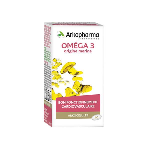 Arkopharma Arkogélules Omega 3 Origine Marine 60 gélules