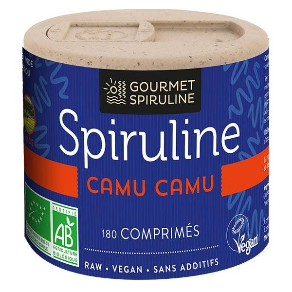 Gourmet Spiruline Spiruline Camu-Camu Bio 180 comprimés
