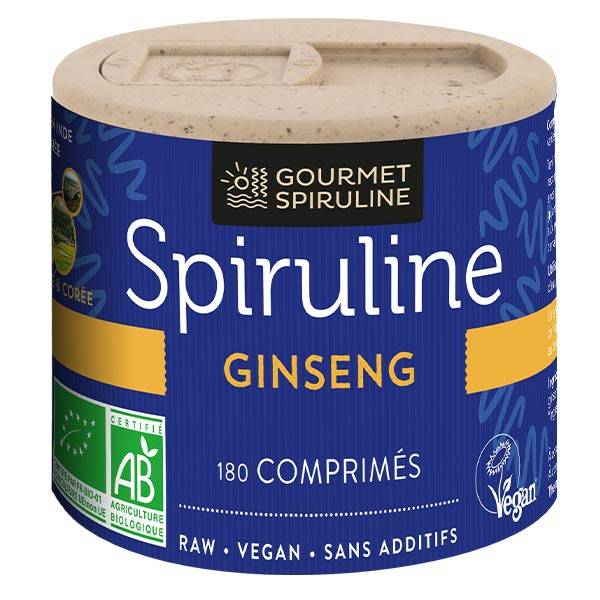Gourmet Spiruline Ginseng Bio 180 comprimés