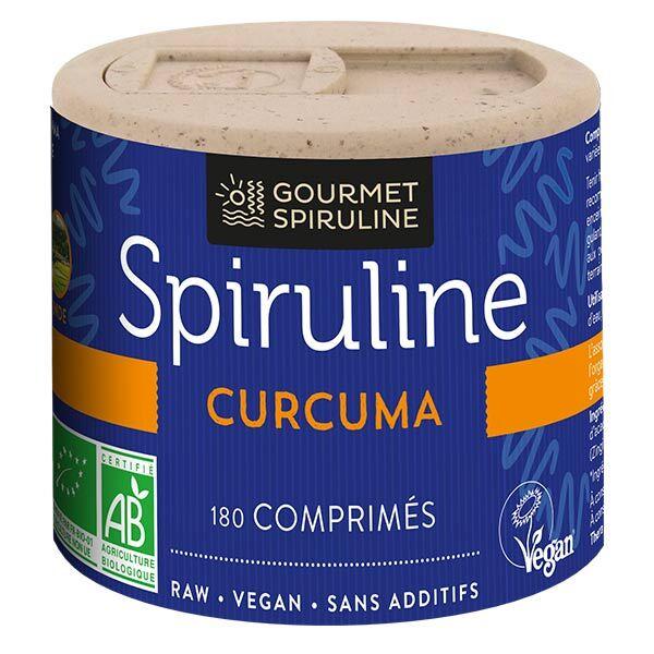 Gourmet Spiruline Spiruline Curcuma Bio 180 comprimés