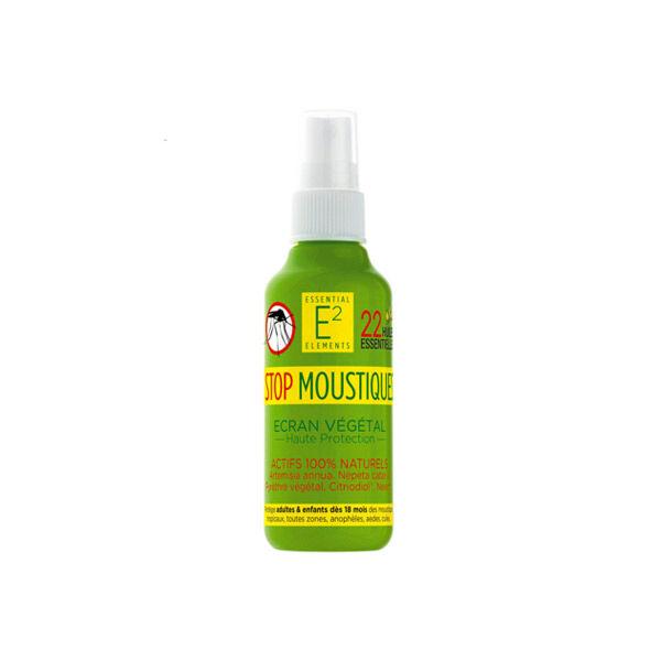 E2 Essential Elements Spray Stop Moustiques aux 22 Huiles Essentielles Naturelles 100ml