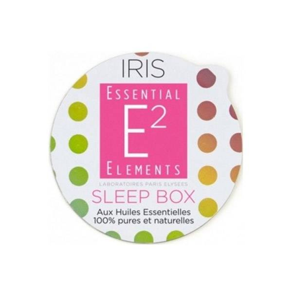 E2 Essential Elements Aromabox Sleep Box aux 21 Huiles Essentielles Pour Diffuseur Iris 3 capsules