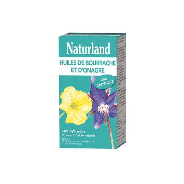 Naturland Huile de Bourrache et d'Onagre Bio 200 capsules
