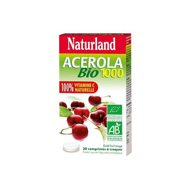 Naturland Acérola 1000 Bio 30 comprimés à croquer