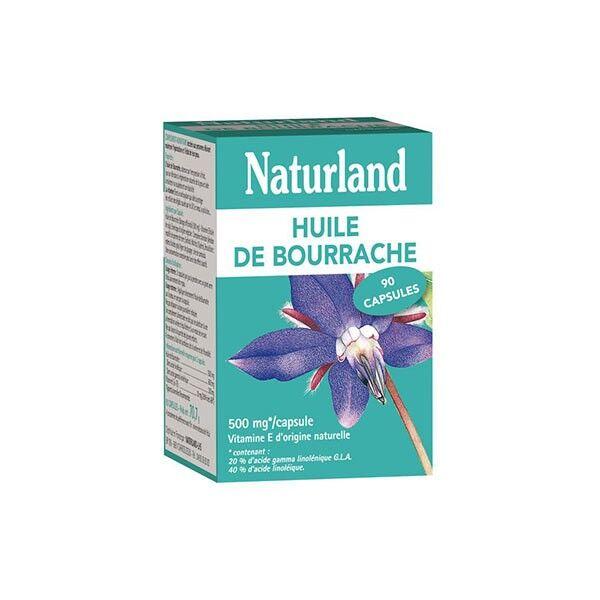 Naturland Huile de Bourrache et d'Onagre Bio 90 capsules