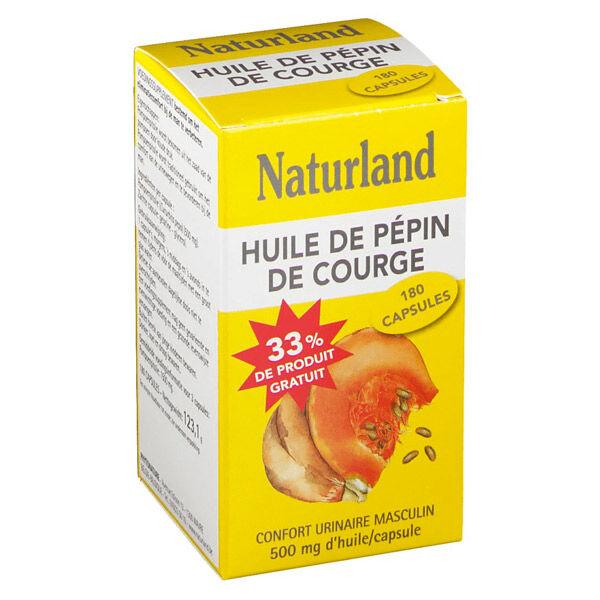 Naturland Huile de Pépin de Courge 180 capsules