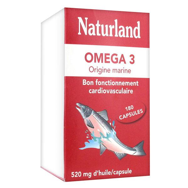 Naturland Oméga 3 Origine Marine 180 capsules