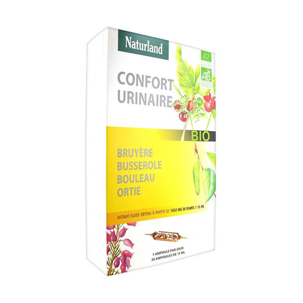 Naturland Confort Urinaire Bio 20 ampoules