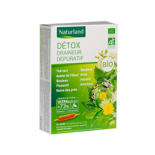 Naturland Détox Draineur Dépuratif Bio 20 ampoules