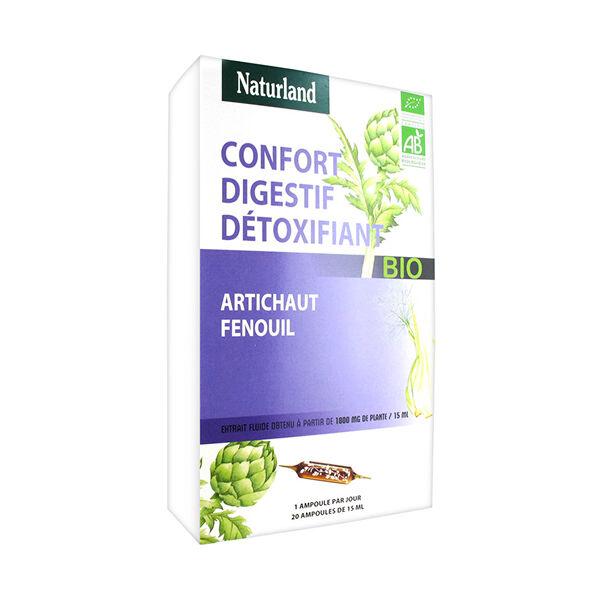 Naturland Confort Digestif Détoxifiant Bio 20 ampoules