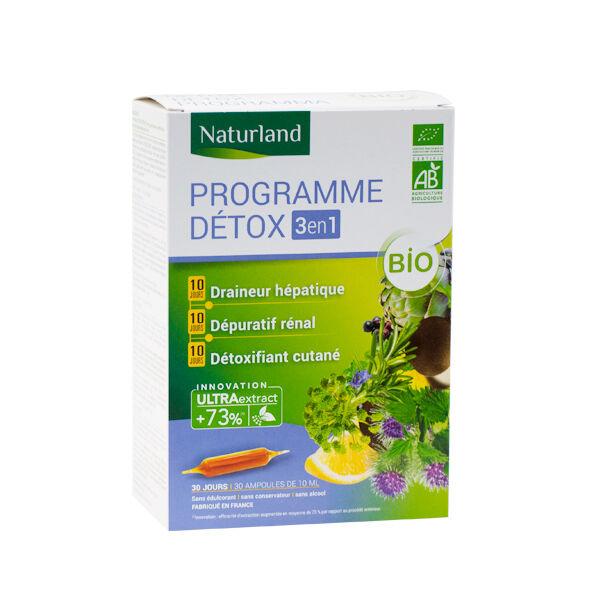 Naturland Programme Détox Bio 30 ampoules