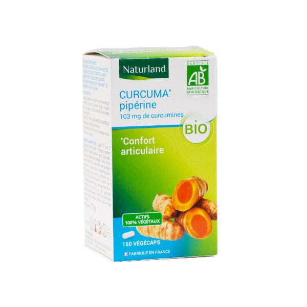Naturland Curcuma Piperine Bio 150 végécaps