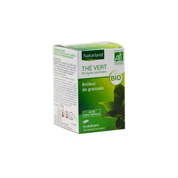 Naturland Thé Vert Bio 75 végécaps