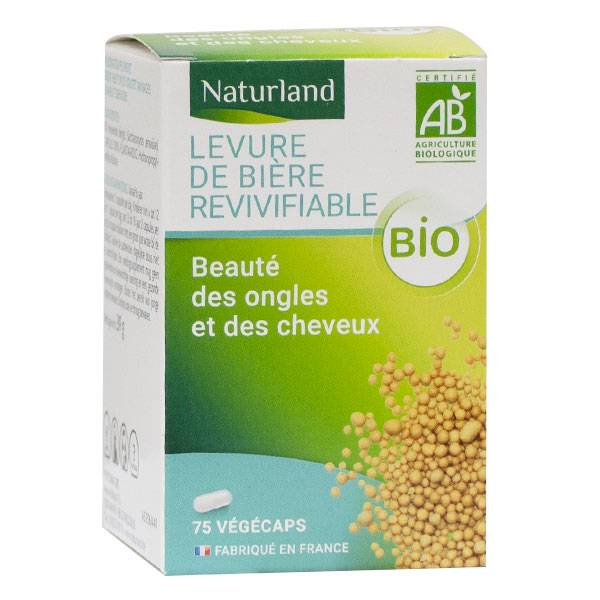 Naturland Levure de Bière Revivifiable Bio 75 Végécaps