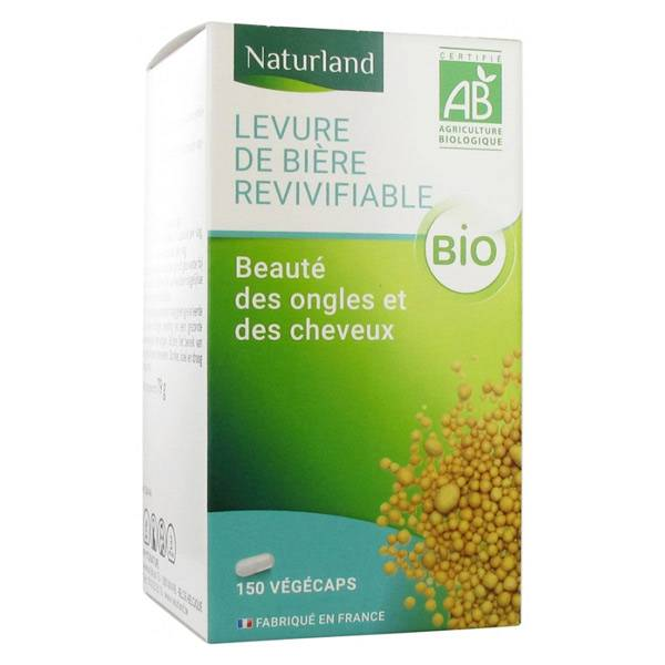 Naturland Levure de Bière Revivifiable Bio 150 végécaps