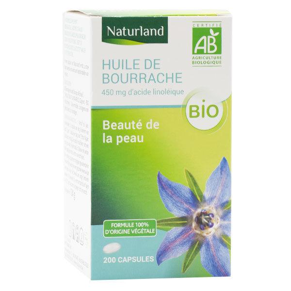 Naturland Huile de Bourrache Bio 200 capsules