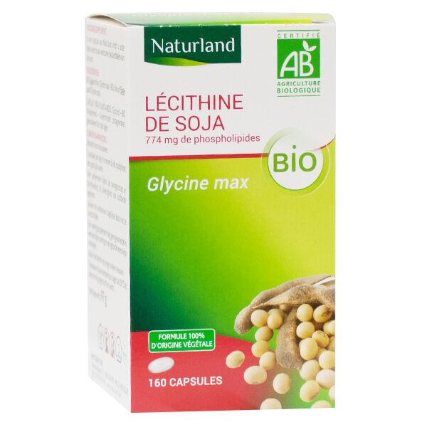 Naturland Lécithine de Soja Bio 160 Capsules