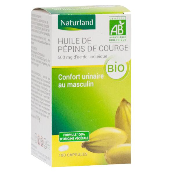 Naturland Huile de Pépins de Courge Bio 180 capsules