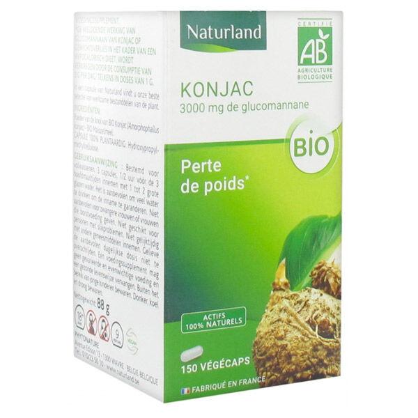 Naturland Konjac Bio Perte de Poids 150 Végécaps
