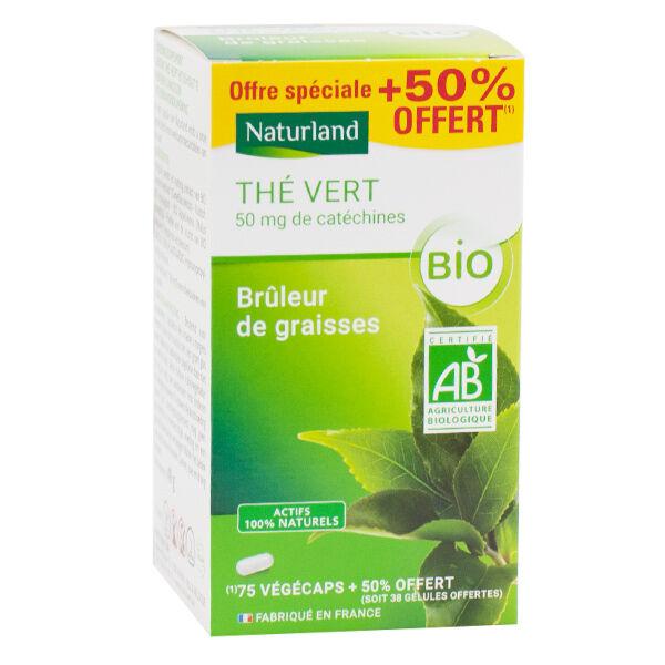 Naturland Thé Vert Bio 75 végécaps + 38 Offertes
